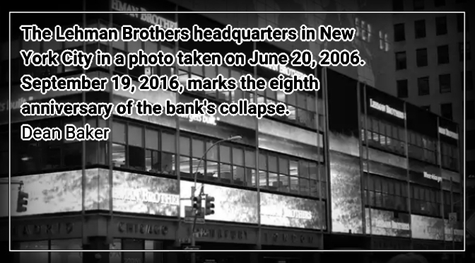 The Anniversary of Lehman and Men Who Don't Work.