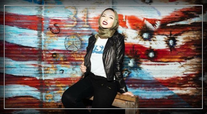 Hijab wearer appears in Playboy.
