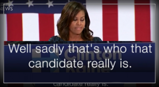 """""""We Need an Adult in the White House"""" – Michelle Obama"""