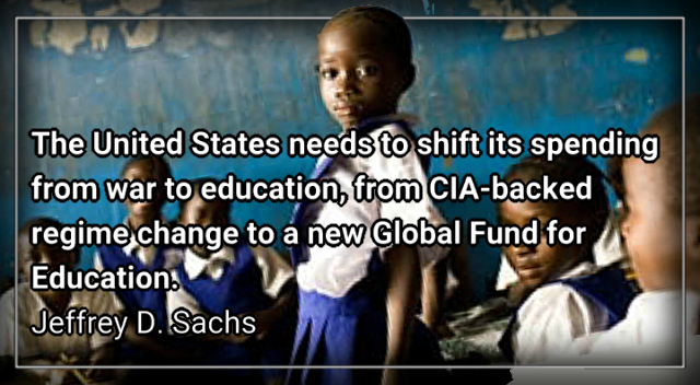 GFE, a Global Fund for Education – Jeffrey D. Sachs