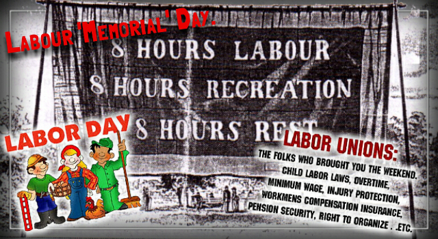 Labour Memorial Day. – Bryan Bruce.
