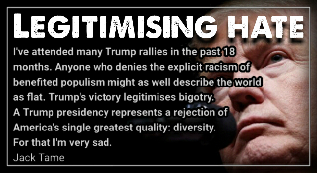 Racism. The Growing Reality in Trump's 'Merica'.