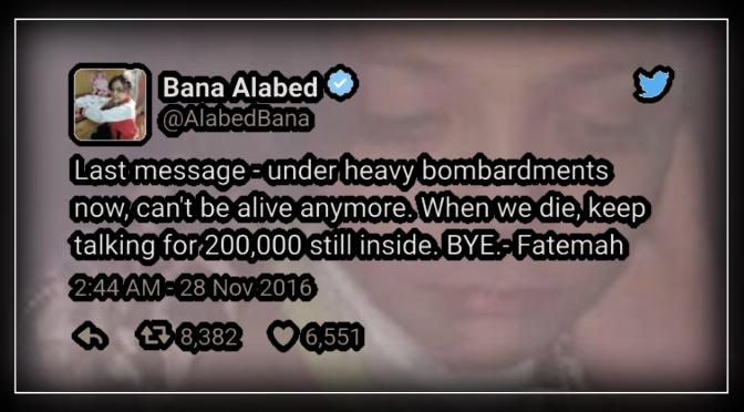 Aleppo, War zone girl's 'last message'.