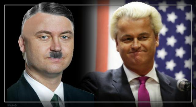 Dutch MP Geert Wilders, just another scumbag, redneck wannabe.
