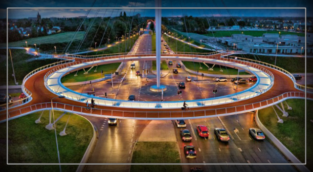 The Dutch Have Built an Elevated Roundabout Just for Bikes.