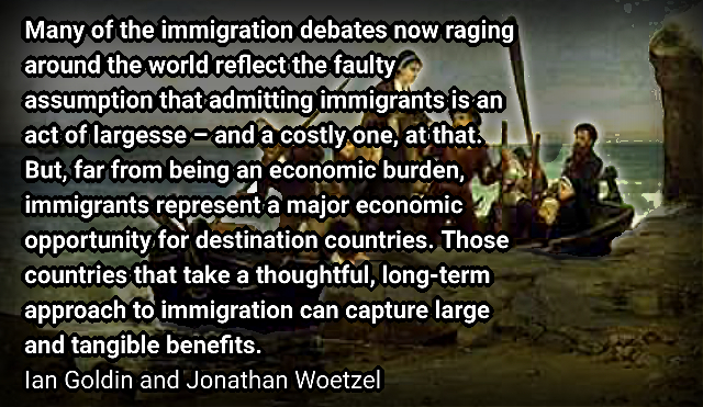 The Migrant Boon – Ian Goldin and Jonathan Woetzel.