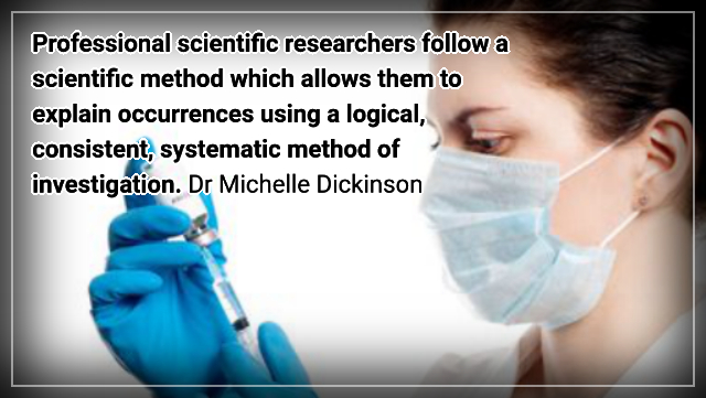 Vaccination, it's science, there is no other side – Dr Michelle Dickinson.