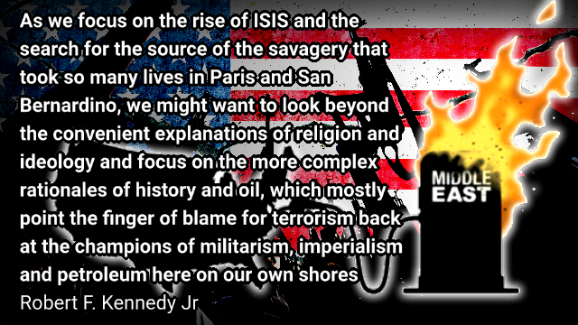 JFK's Nephew Blows the Whistle on Syria. ISIS is a Product of US Intervention for Oil – Claire Bernish.