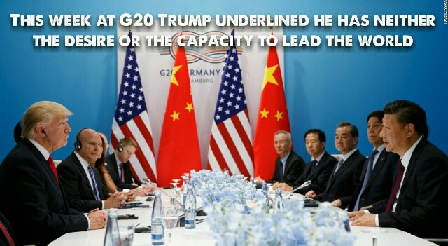 G20: Does Donald Trump's awkward performance indicate America's decline as a world power? –Chris Uhlmann.